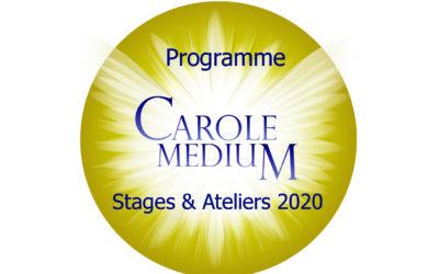 Programme 2020 – Stages et Atelier