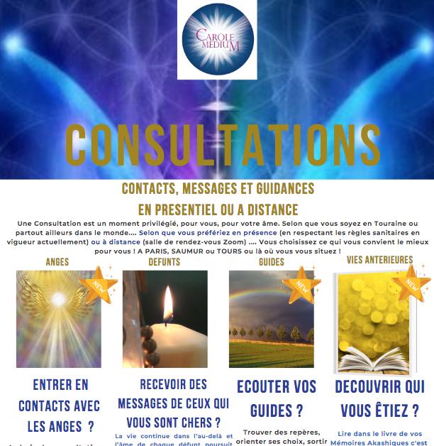 CONSULTATIONS : NOUVEAUTES